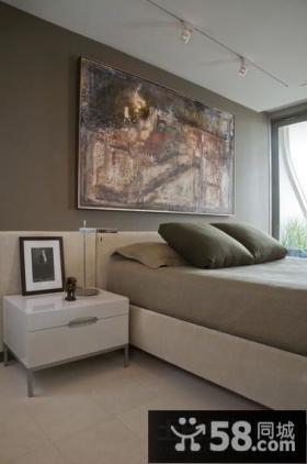 60平米小户型现代客厅沙发背景墙装修效果图