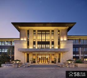 中式现代风格三层别墅装修立面图