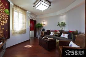 东南亚中式混搭小户型客厅装修图