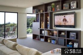 客厅电视背景墙装修效果图 大理石电视背景墙设计