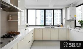 现代风格二居厨房橱柜样板房装修效果图