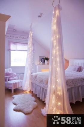 斜顶阁楼女儿童房卧室图片欣赏