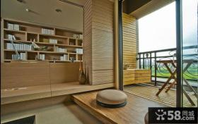 日式原木阳台设计案例
