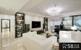 简约客厅房屋装修电视背景墙