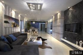 现代风格客厅电视背景墙装修效果图大全2013图欣赏