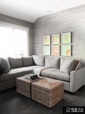 2013简约客厅沙发背景墙效果图