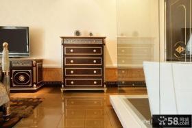 欧式主卧室卫生间样板房设计