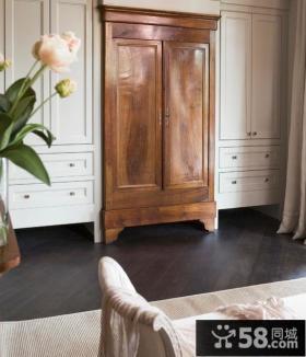卧室实木入墙衣柜效果图欣赏