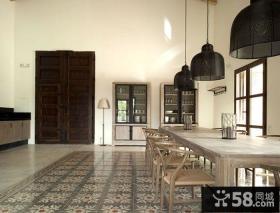复古简欧设计别墅餐厅装修效果图