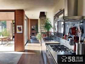 美式格调妆点复式楼厨房装修效果图大全2014图片