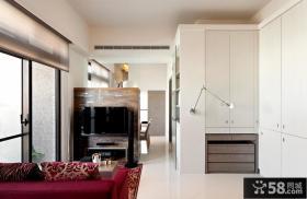 经典的空间利用打造美式风格电视背景墙装修效果图