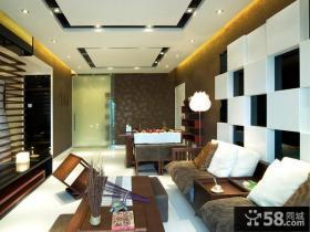 日式风格客餐厅装修效果图片