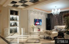 2013优质现代风客厅电视背景墙装修效果图