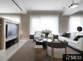 简约风格50平米小户型客厅全景图