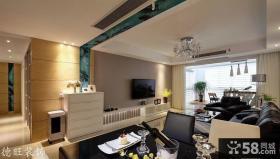 家装客厅电视墙壁纸装修效果图欣赏