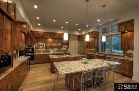 现代简约风格装饰厨房整体橱柜效果图