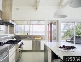 白色简欧风格厨房装修效果图