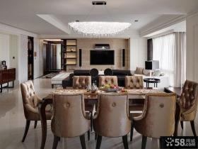 现代120平米三居室效果图2015大全