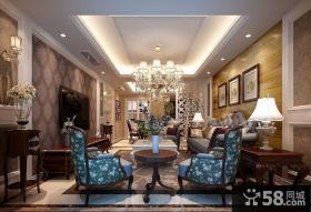 简欧风格120平米三居室客厅装修图