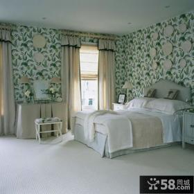时尚舒适卧室墙纸贴图