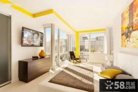 北欧设计室内客厅电视背景墙图片欣赏