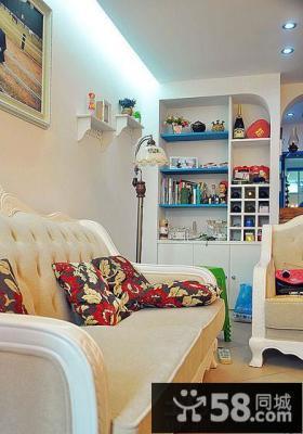 地中海风格70平米小户型客厅装修效果图