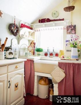 80后喜欢的地中海风格厨房橱柜装修效果图大全2014图片