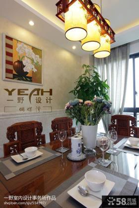 2013现代中式餐厅设计效果图