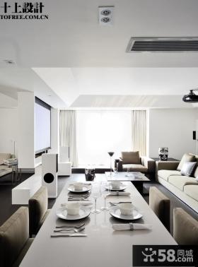 现代客厅餐厅一体设计