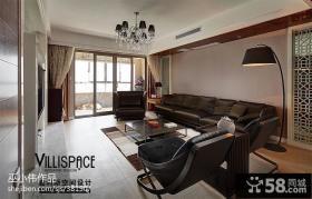 新中式客厅沙发摆放装修效果图