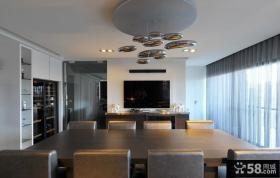 现代风格别墅餐厅装修设计效果图