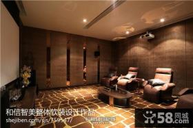 别墅客厅沙发壁纸背景墙效果图