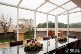 玻璃封阳台餐厅设计
