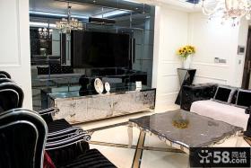新古典风格客厅电视墙设计图