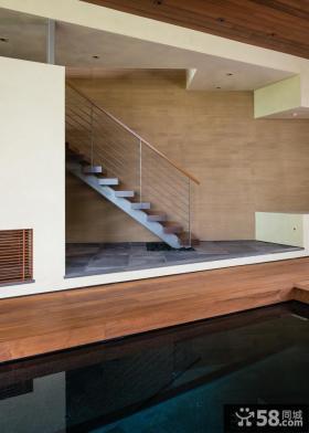 日式复式楼房室内楼梯效果图