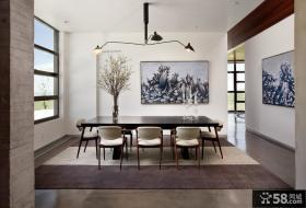 现代简约风格室内餐厅吊顶效果图