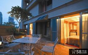 新古典风格别墅室外阳台效果图