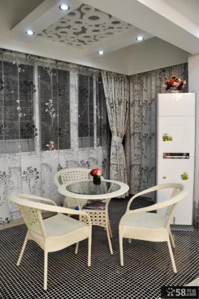 90平米小户型浪漫的现代风格餐厅装修效果图