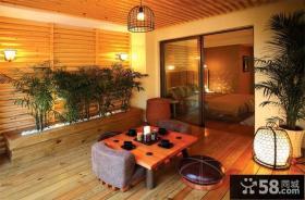 阳台家庭茶室榻榻米装修效果图