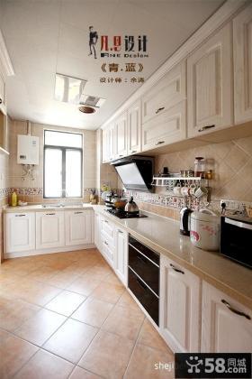 欧式开放式长方形厨房装修效果图大全2013图片