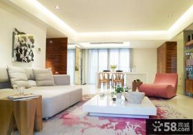 2013现代风格两室两厅客厅吊顶效果图
