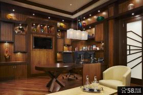 美式风格书房装修效果图 2013优质书房装修效果图