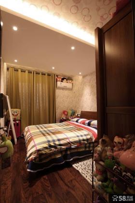 现代中式三居儿童房效果图