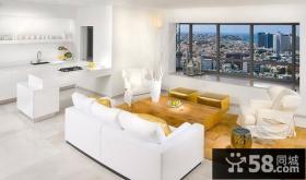 17万打造清新简欧风格二居客厅背景墙装修效果图大全2014图片
