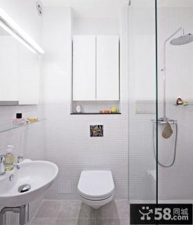 80平小户型现代简约风格卫生间装修效果图大全2014图片
