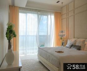欧式风格卧室阳台窗帘图片