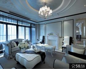 欧式别墅客厅家具摆放图片欣赏