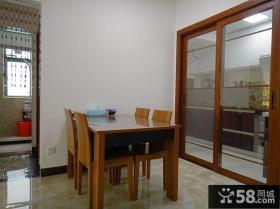 两室两厅一卫户型简装餐厅装修效果图