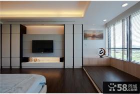 现代风格卧室电视背景墙装饰效果图