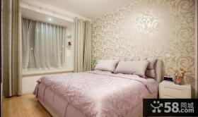 简约卧室壁纸装修效果图大全2013图片